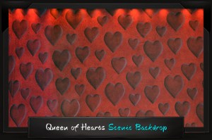 Professional Alice in Wonderland Queen of Hearts Scenic Backdrop