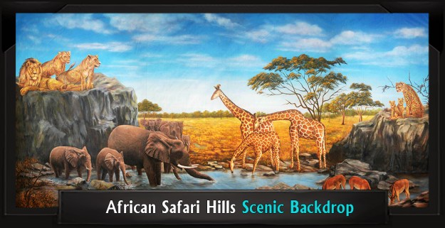 The Lion King African Safari Hills Professional Scenic Backdrop