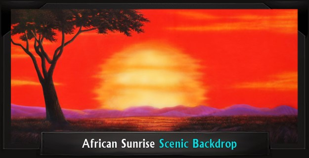 The Lion King African Sunrise Professional Scenic Backdrop