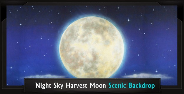 Addams Family Night Sky Harvest Moon Professional Scenic Backdrop