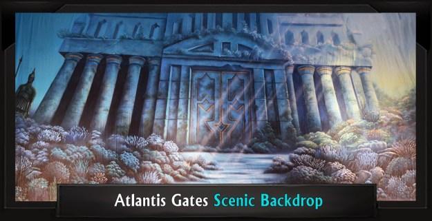 Atlantis Gates Professional Scenic Little Mermaid Backdrop