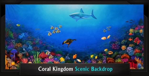 Coral Kingdom Professional Scenic Little Mermaid Backdrop
