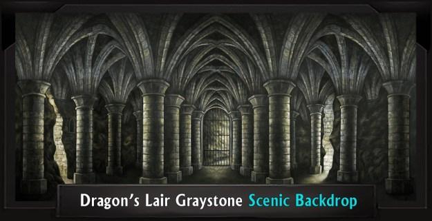 DRAGON'S LAIR GRAYSTONE Professional Scenic Shrek Backdrop