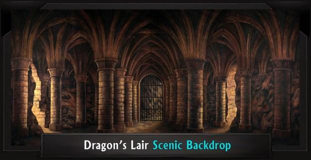 DRAGON'S LAIR Professional Scenic Shrek Backdrop