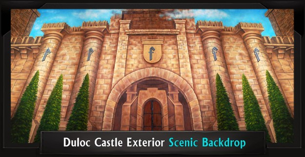DULOC CASTLE EXTERIOR Professional Scenic Shrek Backdrop