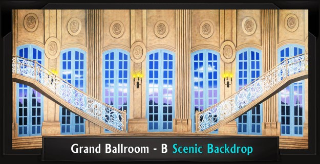 Grand Ballroom B Professional Scenic Little Mermaid Backdrop