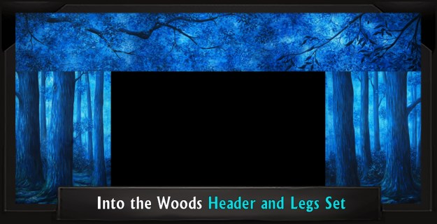 INTO THE WOODS Professional Scenic Shrek Header and Legs Set