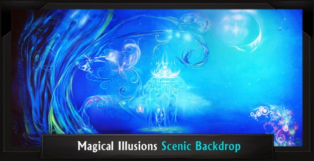 Magical Illusions Professional Scenic Little Mermaid Backdrop