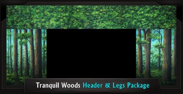 TRANQUIL WOODS Professional Scenic Header and Legs Set, Shrek