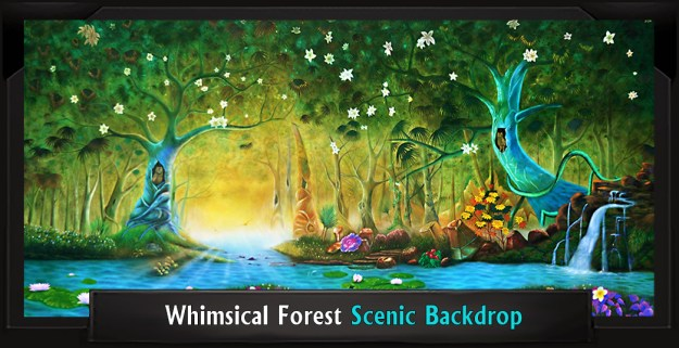 Whimsical Forest Professional Scenic Little Mermaid Backdrop