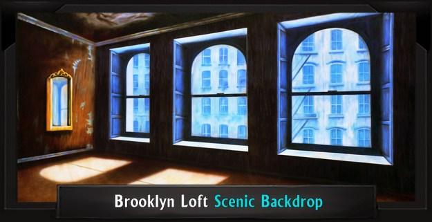 BROOKLYN LOFT Professional Scenic Rent Musical Backdrop