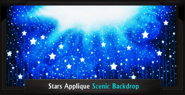 STARS APPLIQUE Professional Scenic SEUSSICAL Musical Backdrop