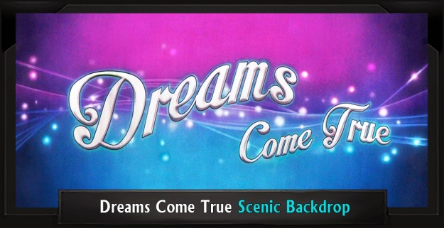 Professional Scenic Dreamgirls Backdrop DREAMS COME TRUE