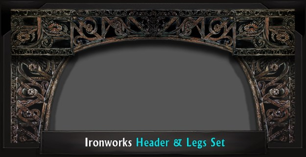 SECRET GARDEN Ironworks Professional Scenic Header and Legs Set