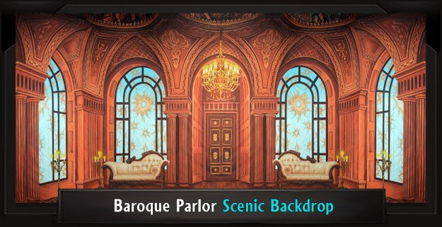 BAROQUE PARLOR Secret Garden Professional Scenic Backdrop