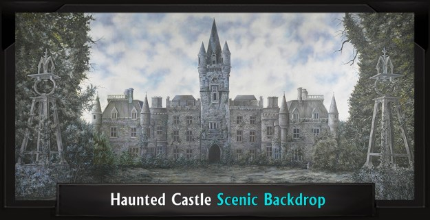 HAUNTED CASTLE Professional Scenic Secret Garden Backdrop