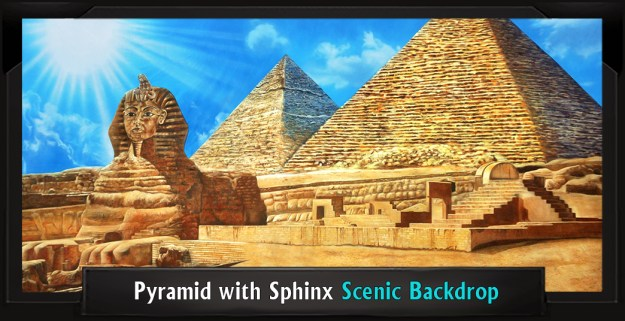 Pyramid with Sphinx Professional Scenic JOSEPH... DREAMCOAT Backdrop