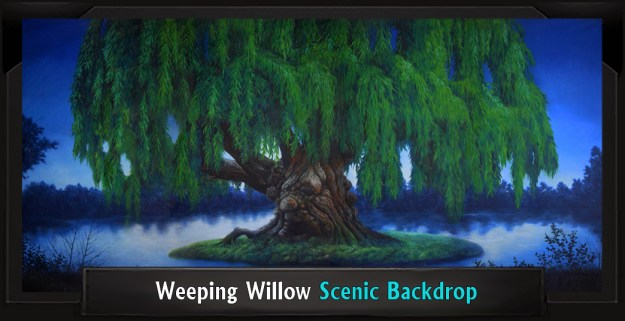 Weeping Willow Professional Scenic Spamalot Backdrop