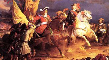 Bataille de Villaviciosa (1710) : Duc de Vendôme et Philippe V. Peinture de Jean Alaux, 1836.
