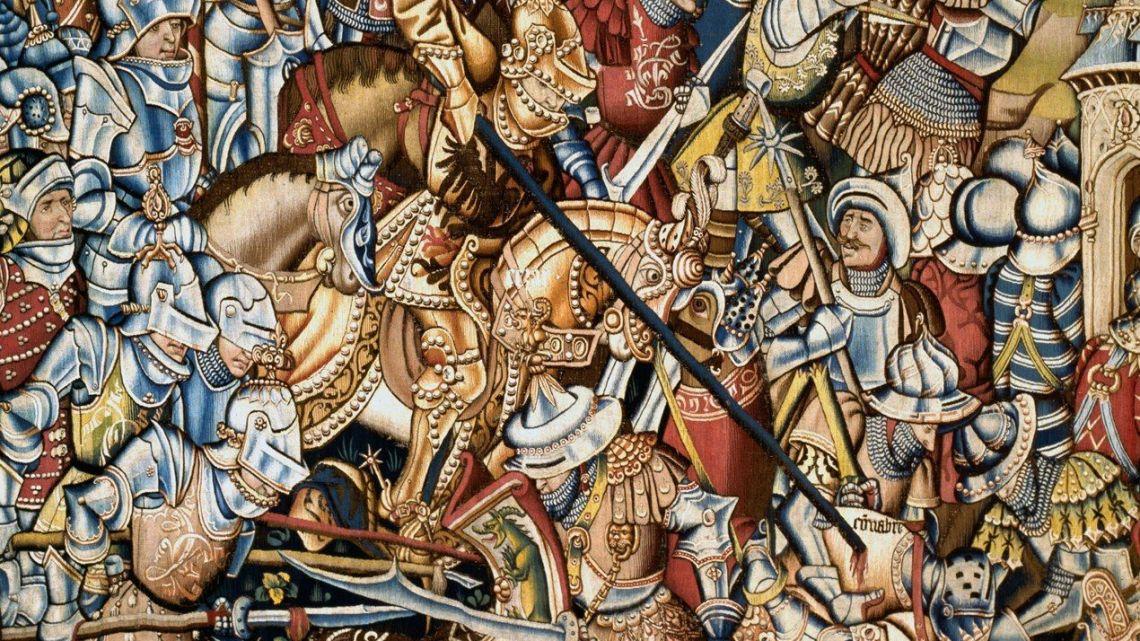 Détail de la bataille de Grandson vue par Diebold Schilling.