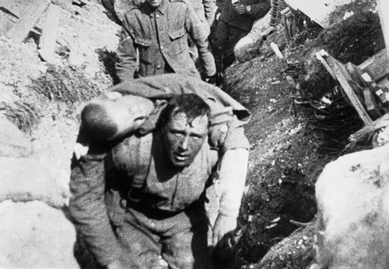 Soldat britannique. Bataille de la Somme 1916.