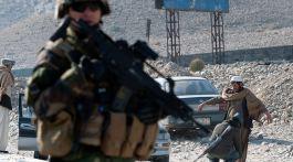 Gendarme en Afghanistan. Crédit : EMA