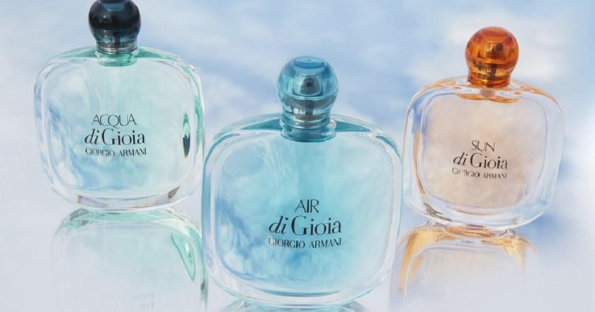 AIR di Gioia e SUN di Gioia – i nuovi profumi di Giorgio Armani