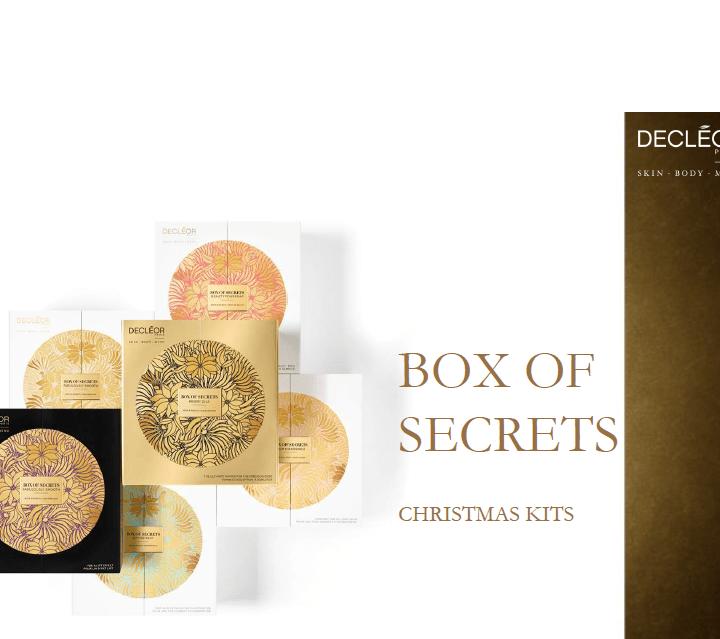 The Secret Boxes – gli scrigni natalizi di Decleor