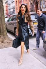 Amal Clooney in Alexander Wang e Dior, NY