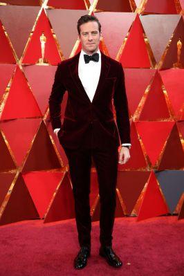 Armie Hammer in Giorgio Armaniagli Oscars 2018, LA