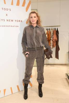 Blake Lively in Tod's al Tod's x Barneys New York Launch, New York