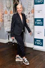 Emma Thompson con scarpe Stella McCartney al 'King Lear' screening, London