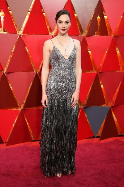 Gal Gadot in Givenchy e gioiello della collezione Tiffany Blue Book 2018 agli Oscars 2018, LA