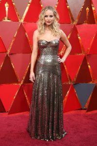 Jennifer Lawrence in Dior agli Oscars 2018, LA