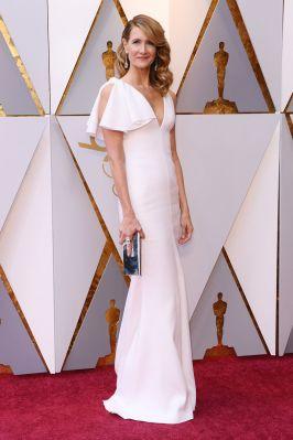 Laura Dern in Calvin Klein e gioielli Swarovsky agli Oscars 2018, LA