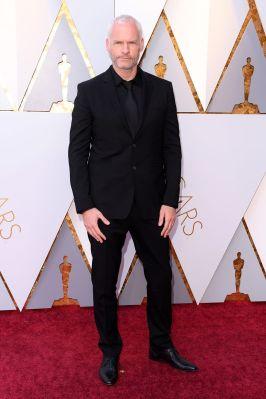 Martin McDonagh in Burberry agli Oscars 2018, LA