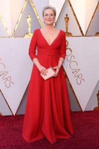 Meryl Streep in Christian Dior agli Oscars 2018, LA