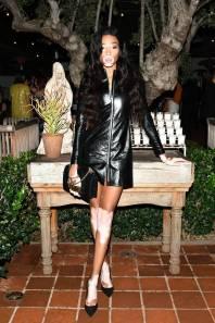Winnie Harlow in Dior al Dior Addict Lacquer Plump Event, Los Angeles