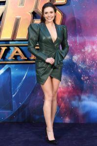 Elizabeth Olsen in Alexandre Vauthier all UK fan event for Avengers Infinity War, London