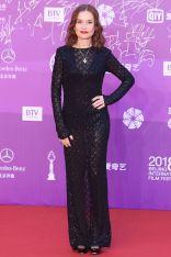 Isabelle Huppert in Saint Laurent al Beijing International Film Festival