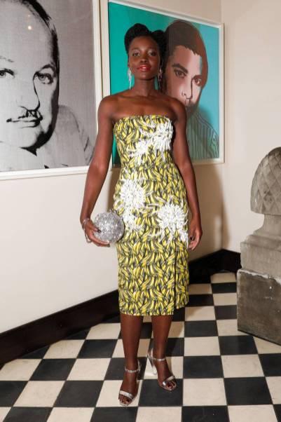 Lupita Nyong'O in Prada al 'How to Accessorise' book dinner, New York