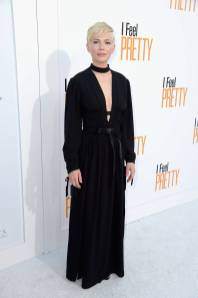 Michelle Williams in Louis Vuitton alla 'I Feel Pretty' premiere, Los Angeles