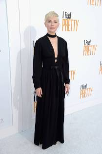 Michelle Williams in Louis Vuitton alla 'I Feel Pretty' premiere, Los Angeles