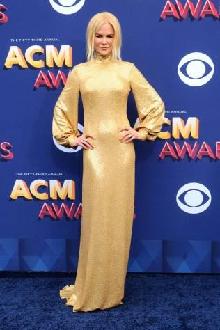 Nicole Kidman in Michael Kors ai Country Music Awards, Arrivals, Las Vegas