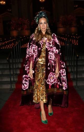 Sarah Jessica Parker in Dolce and Gabbana al Dolce & Gabbana Alta Giorella exhibition, New York