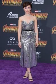 Scarlett Johansson in Erdem e gioielli Messika all''Avengers Infinity War' premiere, Los Angeles
