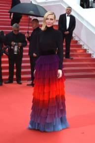 Cate Blanchett in Givenchy Haute Couture alla 'BlacKkKlansman' premiere, Cannes Film Festival
