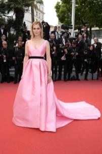 Chiara Ferragni in Alberta Ferretti al Cannes Film Festival