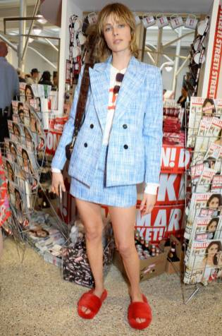 Edie Campbell al HELLO! x Dover Street Market launch, London