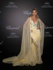 Elsa Hosk in Ralph & Russo al Secret Chopard party, Cannes